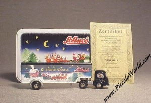 Schuco Piccolo Mercedes Benz Closed Truck Christmas 1999